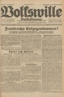 Volkswille : zugleich Volksstimme für Bielitz : Organ der Deutschen Sozialistischen Arbeitspartei in Polen. Jg.18, Nr. 271 (24 November 1932) + dod.