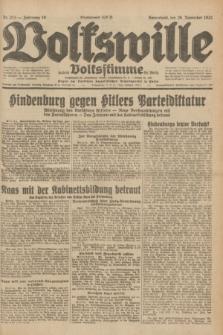 Volkswille : zugleich Volksstimme für Bielitz : Organ der Deutschen Sozialistischen Arbeitspartei in Polen. Jg.18, Nr. 273 (26 November 1932) + dod.