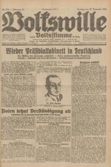 Volkswille : zugleich Volksstimme für Bielitz : Organ der Deutschen Sozialistischen Arbeitspartei in Polen. Jg.18, Nr. 274 (27 November 1932) + dod.