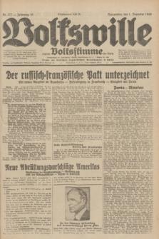 Volkswille : zugleich Volksstimme für Bielitz : Organ der Deutschen Sozialistischen Arbeitspartei in Polen. Jg.18, Nr. 277 (1 Dezember 1932) + dod.