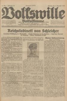 Volkswille : zugleich Volksstimme für Bielitz : Organ der Deutschen Sozialistischen Arbeitspartei in Polen. Jg.18, Nr. 280 (4 Dezember 1932) + dod.