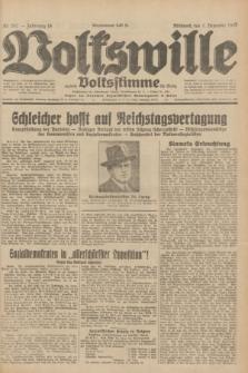 Volkswille : zugleich Volksstimme für Bielitz : Organ der Deutschen Sozialistischen Arbeitspartei in Polen. Jg.18, Nr. 282 (7 Dezember 1932) + dod.