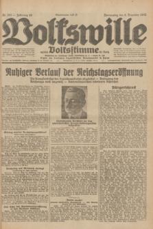 Volkswille : zugleich Volksstimme für Bielitz : Organ der Deutschen Sozialistischen Arbeitspartei in Polen. Jg.18, Nr. 283 (8 Dezember 1932) + dod.