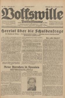 Volkswille : zugleich Volksstimme für Bielitz : Organ der Deutschen Sozialistischen Arbeitspartei in Polen. Jg.18, Nr. 287 (14 Dezember 1932) + dod.