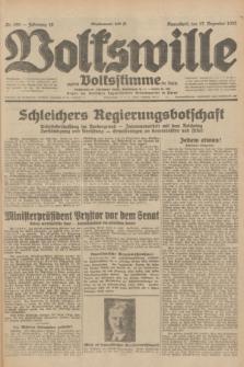 Volkswille : zugleich Volksstimme für Bielitz : Organ der Deutschen Sozialistischen Arbeitspartei in Polen. Jg.18, Nr. 290 (17 Dezember 1932) + dod.