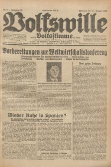 Volkswille : zugleich Volksstimme für Bielitz : Organ der Deutschen Sozialistischen Arbeitspartei in Polen. Jg.19, Nr. 8 (11 Januar 1933) + dod.