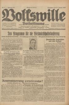 Volkswille : zugleich Volksstimme für Bielitz : Organ der Deutschen Sozialistischen Arbeitspartei in Polen. Jg.19, Nr. 17 (21 Januar 1933) + dod.