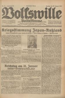 Volkswille : zugleich Volksstimme für Bielitz : Organ der Deutschen Sozialistischen Arbeitspartei in Polen. Jg.19, Nr. 24 (29 Januar 1933) + dod.
