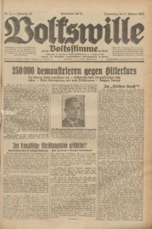 Volkswille : zugleich Volksstimme für Bielitz : Organ der Deutschen Sozialistischen Arbeitspartei in Polen. Jg.19, Nr. 32 (9 Februar 1933) + dod.