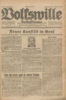 Volkswille : zugleich Volksstimme für Bielitz : Organ der Deutschen Sozialistischen Arbeitspartei in Polen. Jg.19, Nr. 46 (25 Februar 1933) + dod.