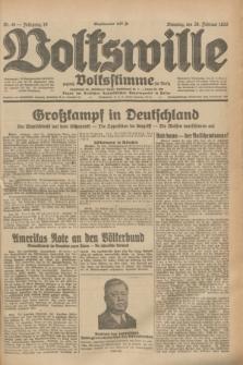 Volkswille : zugleich Volksstimme für Bielitz : Organ der Deutschen Sozialistischen Arbeitspartei in Polen. Jg.19, Nr. 48 (28 Februar 1933) + dod.