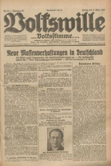 Volkswille : zugleich Volksstimme für Bielitz : Organ der Deutschen Sozialistischen Arbeitspartei in Polen. Jg.19, Nr. 51 (3 März 1933) + dod.