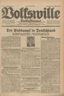 Volkswille : zugleich Volksstimme für Bielitz : Organ der Deutschen Sozialistischen Arbeitspartei in Polen. Jg.19, Nr. 53 (5 März 1933) + dod.