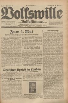 Volkswille : zugleich Volksstimme für Bielitz : Organ der Deutschen Sozialistischen Arbeitspartei in Polen. Jg.19, Nr. 89 (16 April 1933) + dod.