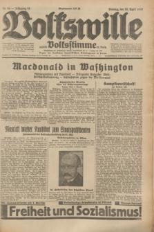 Volkswille : zugleich Volksstimme für Bielitz : Organ der Deutschen Sozialistischen Arbeitspartei in Polen. Jg.19, Nr. 94 (23 April 1933) + dod.
