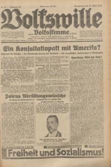 Volkswille : zugleich Volksstimme für Bielitz : Organ der Deutschen Sozialistischen Arbeitspartei in Polen. Jg.19, Nr. 97 (27 April 1933) + dod.