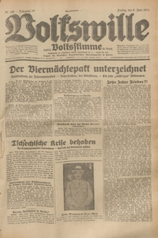 Volkswille : zugleich Volksstimme für Bielitz : Organ der Deutschen Sozialistischen Arbeitspartei in Polen. Jg.19, Nr. 130 (9 Juni 1933) + dod.