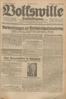 Volkswille : zugleich Volksstimme für Bielitz : Organ der Deutschen Sozialistischen Arbeitspartei in Polen. Jg.19, Nr. 132 (11 Juni 1933) + dod.