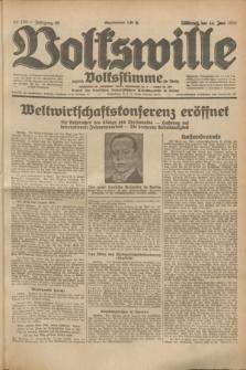 Volkswille : zugleich Volksstimme für Bielitz : Organ der Deutschen Sozialistischen Arbeitspartei in Polen. Jg.19, Nr. 134 (14 Juni 1933) + dod.