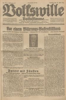 Volkswille : zugleich Volksstimme für Bielitz : Organ der Deutschen Sozialistischen Arbeitspartei in Polen. Jg.19, Nr. 137 (18 Juni 1933) + dod.
