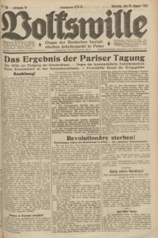Volkswille : Organ der Deutschen Sozialistischen Arbeiterpartei in Polen. Jg.19, Nr. 158 (29 August 1933)