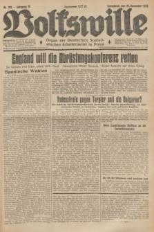 Volkswille : Organ der Deutschen Sozialistischen Arbeiterpartei in Polen. Jg.19, Nr. 188 (18 November 1933) + dod.
