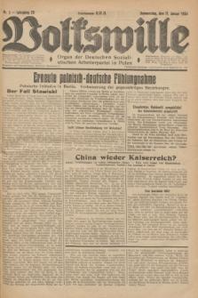 Volkswille : Organ der Deutschen Sozialistischen Arbeiterpartei in Polen. Jg.20, Nr. 5 (11 Januar 1934)