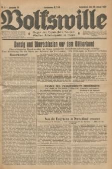 Volkswille : Organ der Deutschen Sozialistischen Arbeiterpartei in Polen. Jg.20, Nr. 9 (20 Januar 1934) + dod.