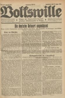 Volkswille : Organ der Deutschen Sozialistischen Arbeiterpartei in Polen. Jg.20, Nr. 12 (27 Januar 1934) + dod.