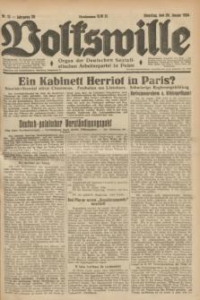 Volkswille : Organ der Deutschen Sozialistischen Arbeiterpartei in Polen. Jg.20, Nr. 13 (30 Januar 1934)
