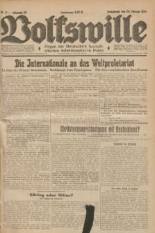 Volkswille : Organ der Deutschen Sozialistischen Arbeiterpartei in Polen. Jg.20, Nr. 17 (24 Februar 1934) + dod.