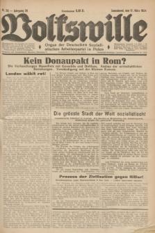 Volkswille : Organ der Deutschen Sozialistischen Arbeiterpartei in Polen. Jg.20, Nr. 20 (17 März 1934) + dod.