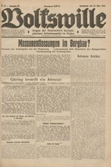 Volkswille : Organ der Deutschen Sozialistischen Arbeiterpartei in Polen. Jg.20, Nr. 21 (24 März 1934) + dod.