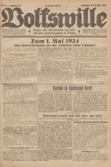 Volkswille : Organ der Deutschen Sozialistischen Arbeiterpartei in Polen. Jg.20, Nr. 22 (31 März 1934) + dod.