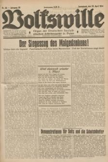 Volkswille : Organ der Deutschen Sozialistischen Arbeiterpartei in Polen. Jg.20, Nr. 26 (28 April 1934) + dod.