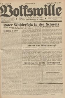 Volkswille : Organ der Deutschen Sozialistischen Arbeiterpartei in Polen. Jg.20, Nr. 28 (12 Mai 1934) + dod.