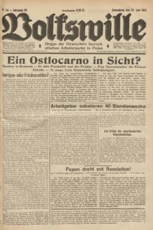 Volkswille : Organ der Deutschen Sozialistischen Arbeiterpartei in Polen. Jg.20, Nr. 34 (23 Juni 1934) + dod.