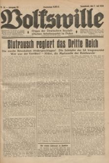 Volkswille : Organ der Deutschen Sozialistischen Arbeiterpartei in Polen. Jg.20, Nr. 36 (7 Juli 1934) + dod.
