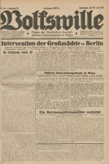 Volkswille : Organ der Deutschen Sozialistischen Arbeiterpartei in Polen. Jg.20, Nr. 39 (28 Juli 1934) + dod.