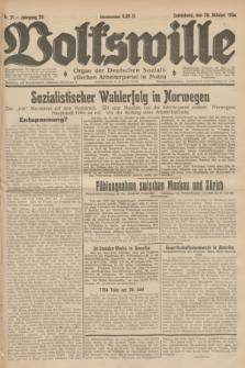 Volkswille : Organ der Deutschen Sozialistischen Arbeiterpartei in Polen. Jg.20, Nr. 51 (20 Oktober 1934) + dod.