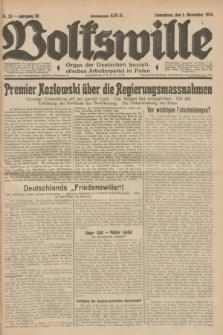 Volkswille : Organ der Deutschen Sozialistischen Arbeiterpartei in Polen. Jg.20, Nr. 53 (3 November 1934) + dod.
