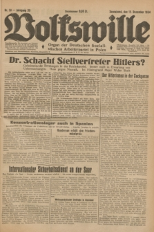Volkswille : Organ der Deutschen Sozialistischen Arbeiterpartei in Polen. Jg.20, Nr. 59 (15 Dezember 1934) + dod.