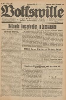 Volkswille : Organ der Deutschen Sozialistischen Arbeiterpartei in Polen. Jg.20, Nr. 60 (22 Dezember 1934) + dod.