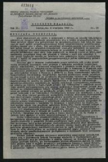 Biuletyn Prasowy. R.11, nr 29 (6 sierpnia 1943)