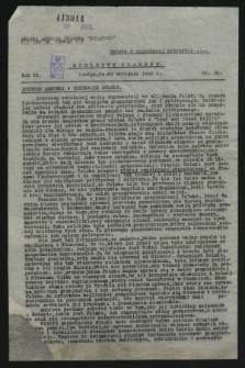 Biuletyn Prasowy. R.11, nr 36 (24 września 1943)