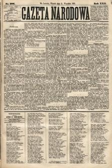 Gazeta Narodowa. 1883, nr206