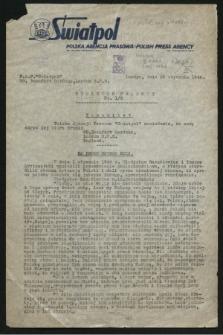 Biuletyn Prasowy. 1946, nr 1/2 (26 stycznia)