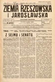 Ziemia Rzeszowska i Jarosławska : czasopismo narodowe. 1933, nr9