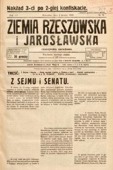 Ziemia Rzeszowska i Jarosławska : czasopismo narodowe (nakład trzeci po drugiej konfiskacie). 1933, nr 9
