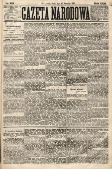 Gazeta Narodowa. 1883, nr219